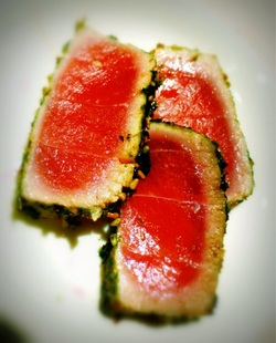 Impress Your Friends--Seared Ahi and Homemade Shoga